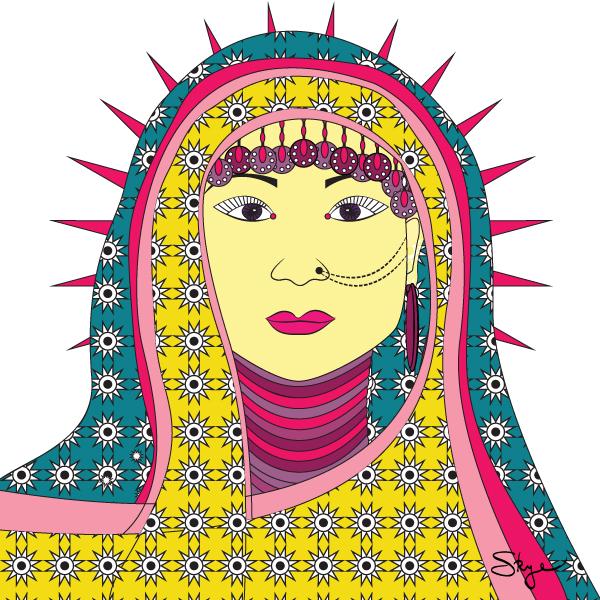 Turkish Lady Greeting Card