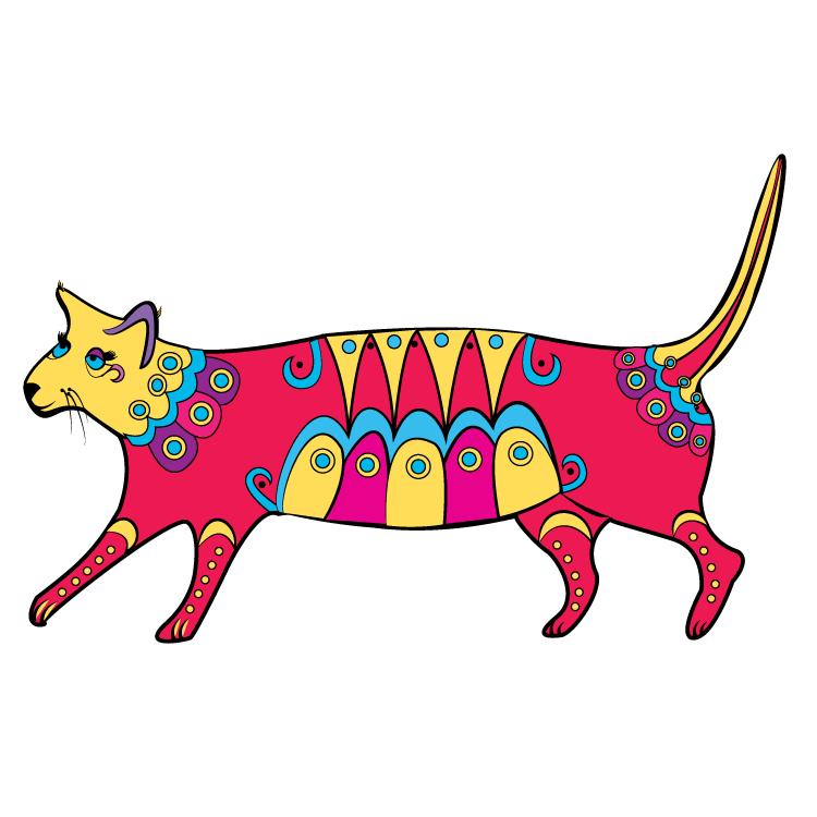 Circus Cat Greeting Card